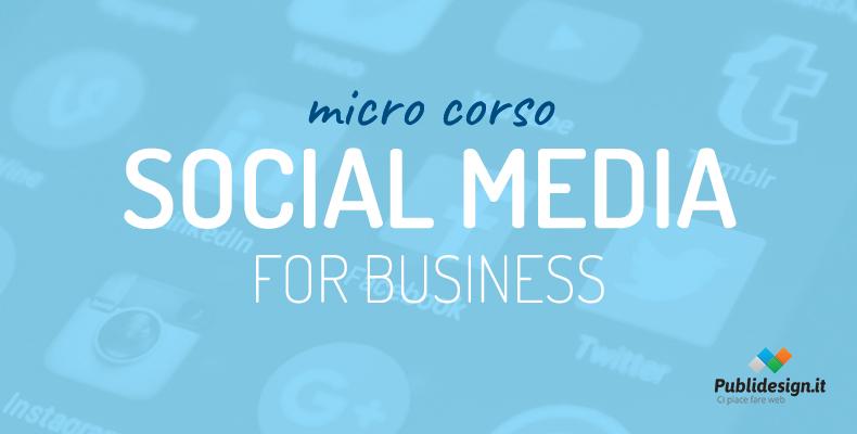 """Micro corso """"Facebook e Social design for Business"""" 3.0"""